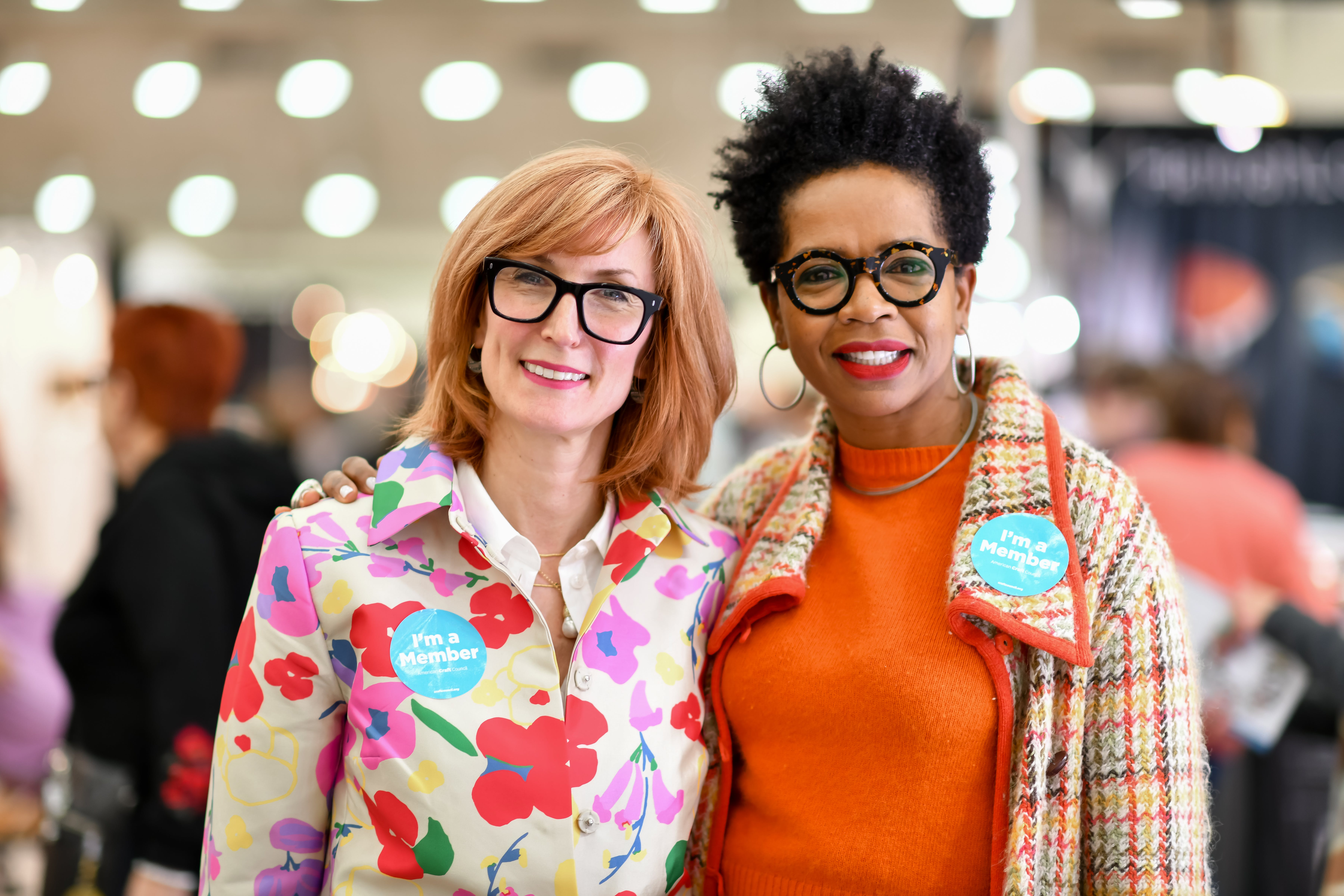 Photo of two members at the 2020 American Craft Show in Baltimore