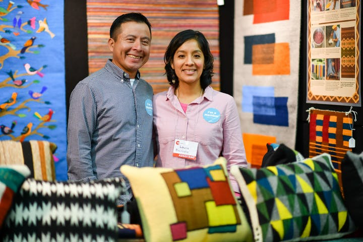 Francisco and Laura Bautista at the 2020 Baltimore American Craft Show