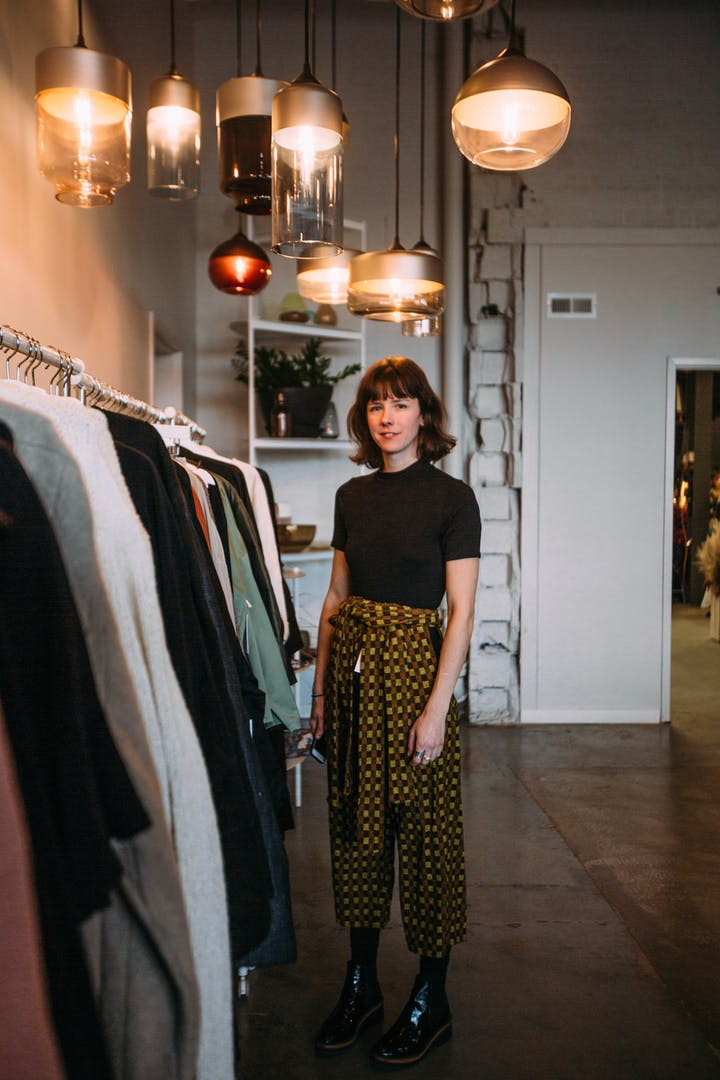 Vintage clothing pop-up owner at Craft Bash 2019