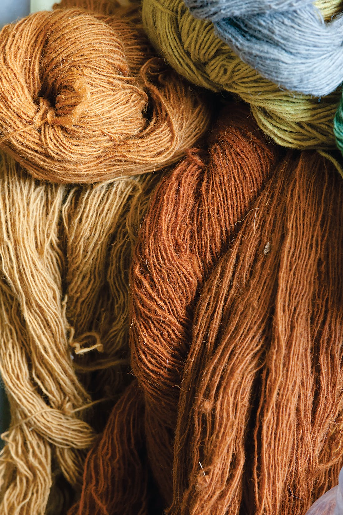 Yarns dyed by Irene Clark