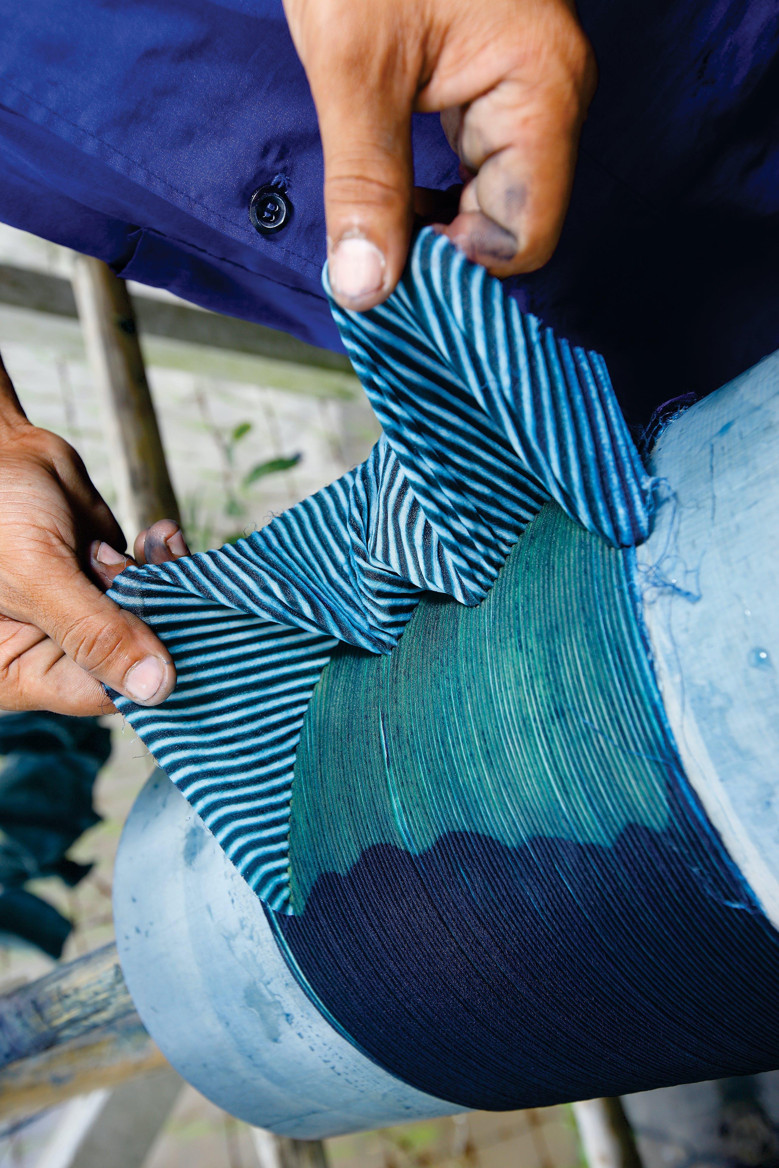 Shibori fabric by Living Blue
