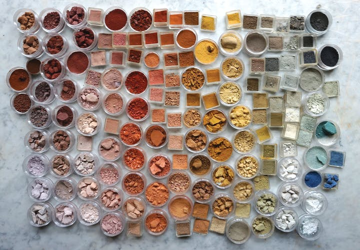 A spectrum of pigments from ochre