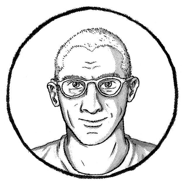 Ian Petrie illustrated portrait