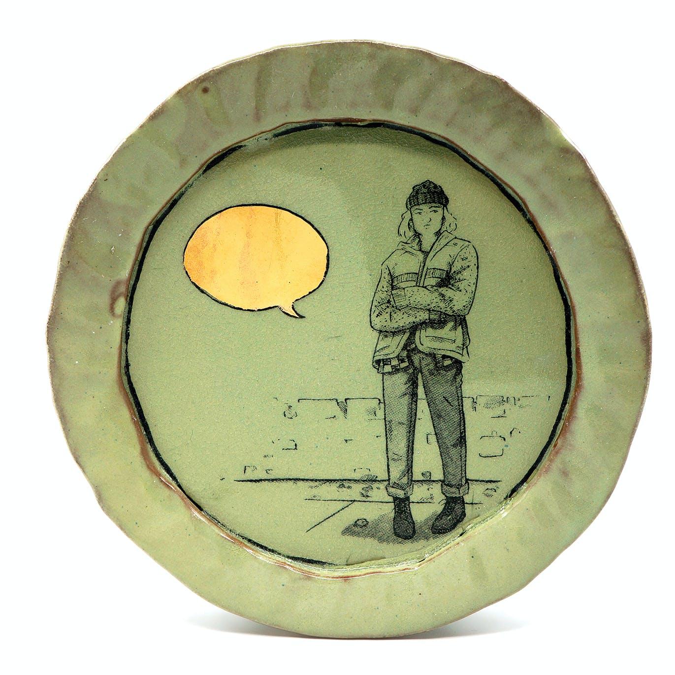 Ian Petrie Luster Speech Bubble Salad Plate