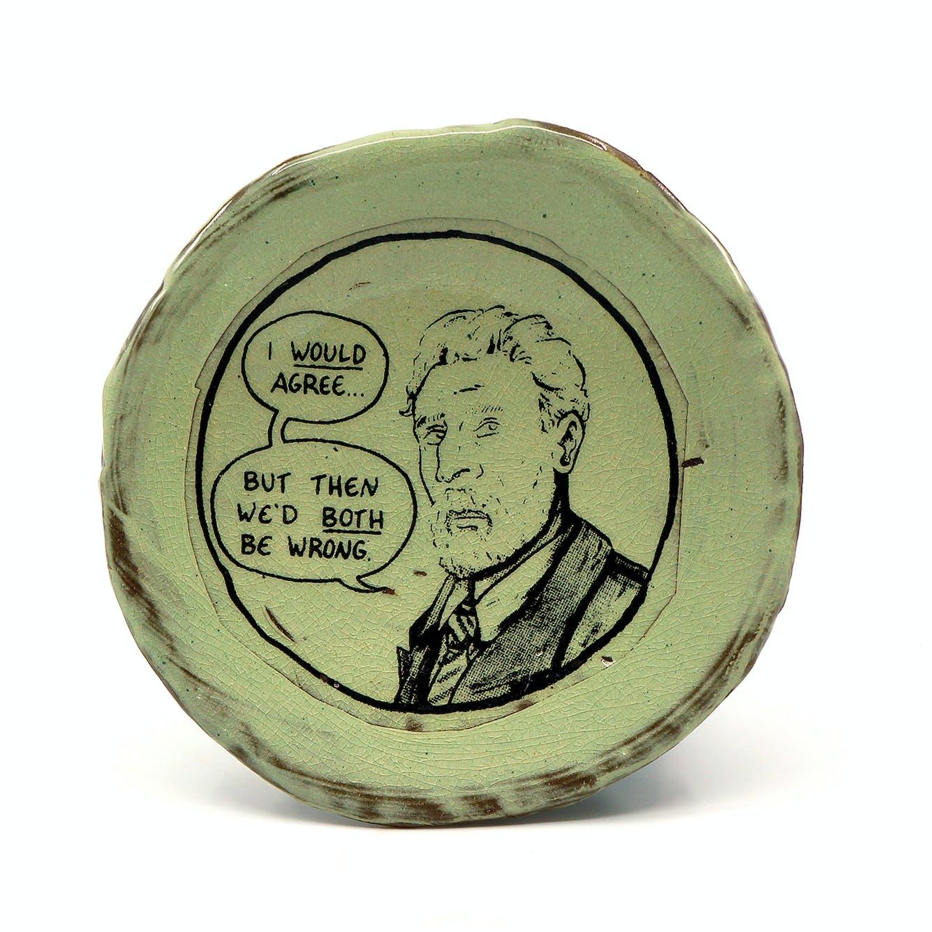 Ian Petrie I Would Agree Snack Plate