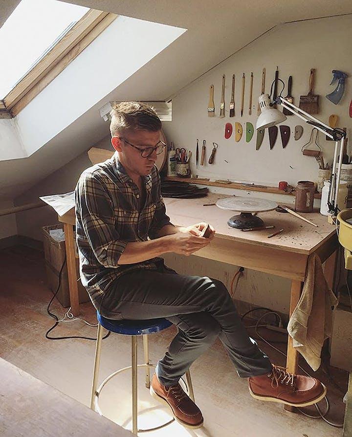 Ian Petrie in studio