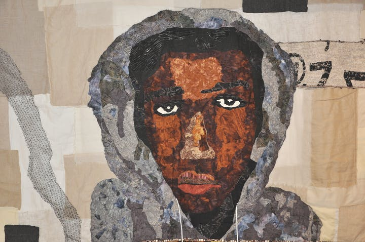 quilt of the face of trayvon martin