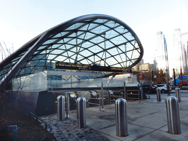Exterior of new your transit station
