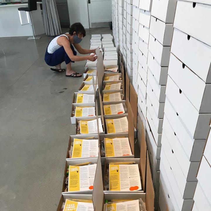 Take Home Craft Atlanta boxes being assembled
