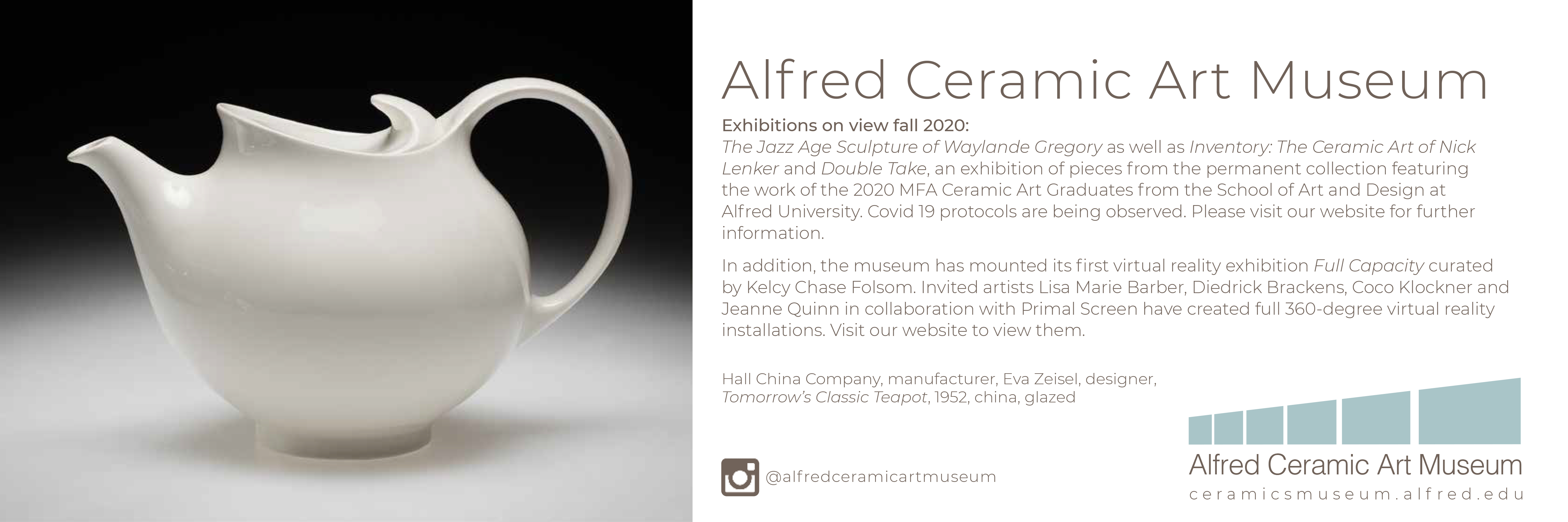 Ad from Alfred Ceramic Art Museum