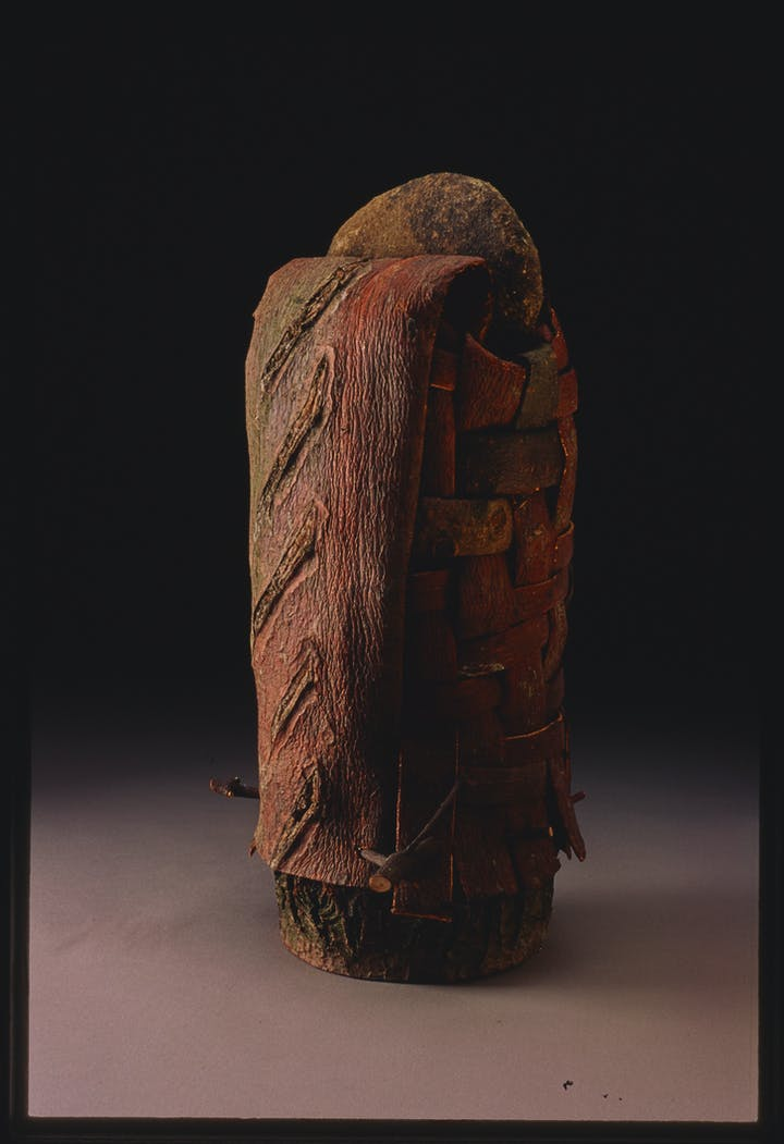 Bark Drawing with Stone Lid by Dorothy Gill Barnes