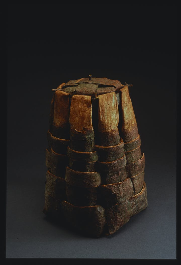 Pine Bark with Lid by Dorothy Gill Barnes