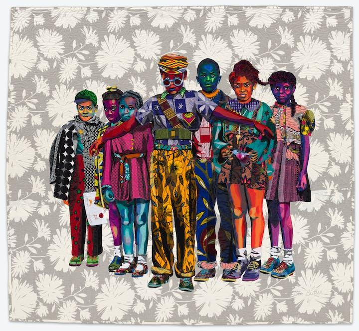Safety Patrol quilt by Bisa Butler