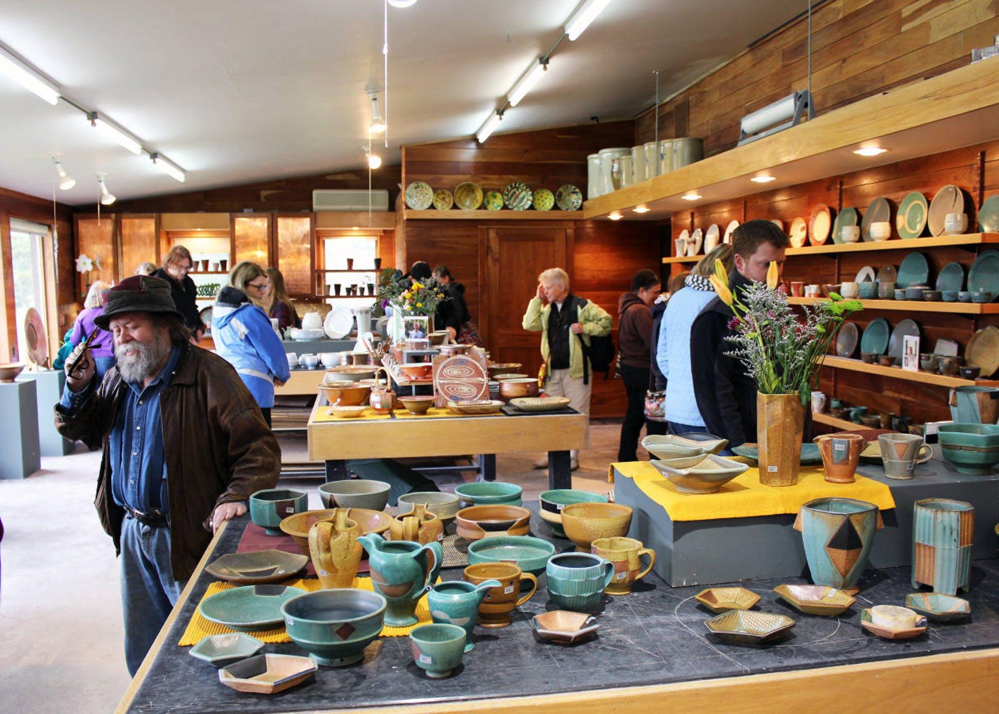 Jeff Oestreich studio St Croix Valley Pottery Tour 2014