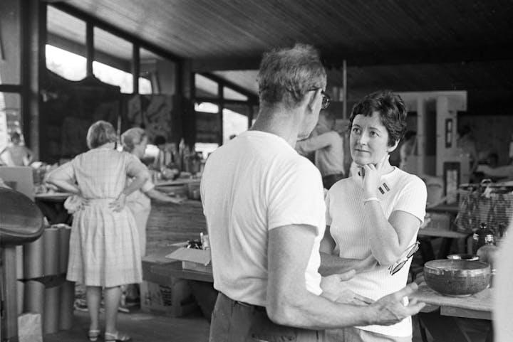 Lois Moran at the 1967 ACC NE Regional Craft Fair as director of regional programs