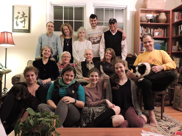 Lois Moran with the Coates family December 2014