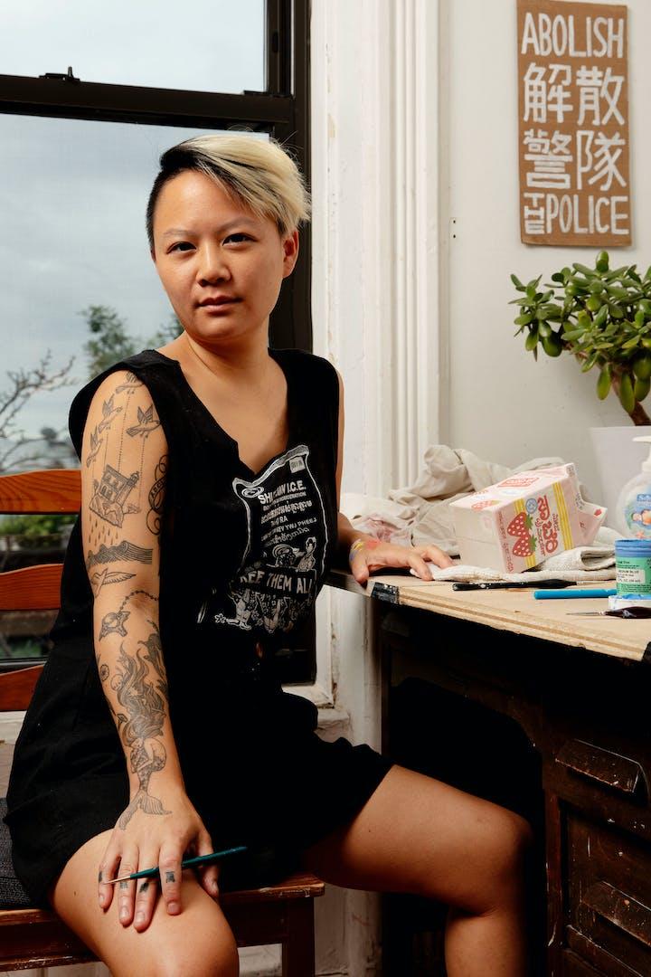 Portrait of Stephanie Shih at workstation