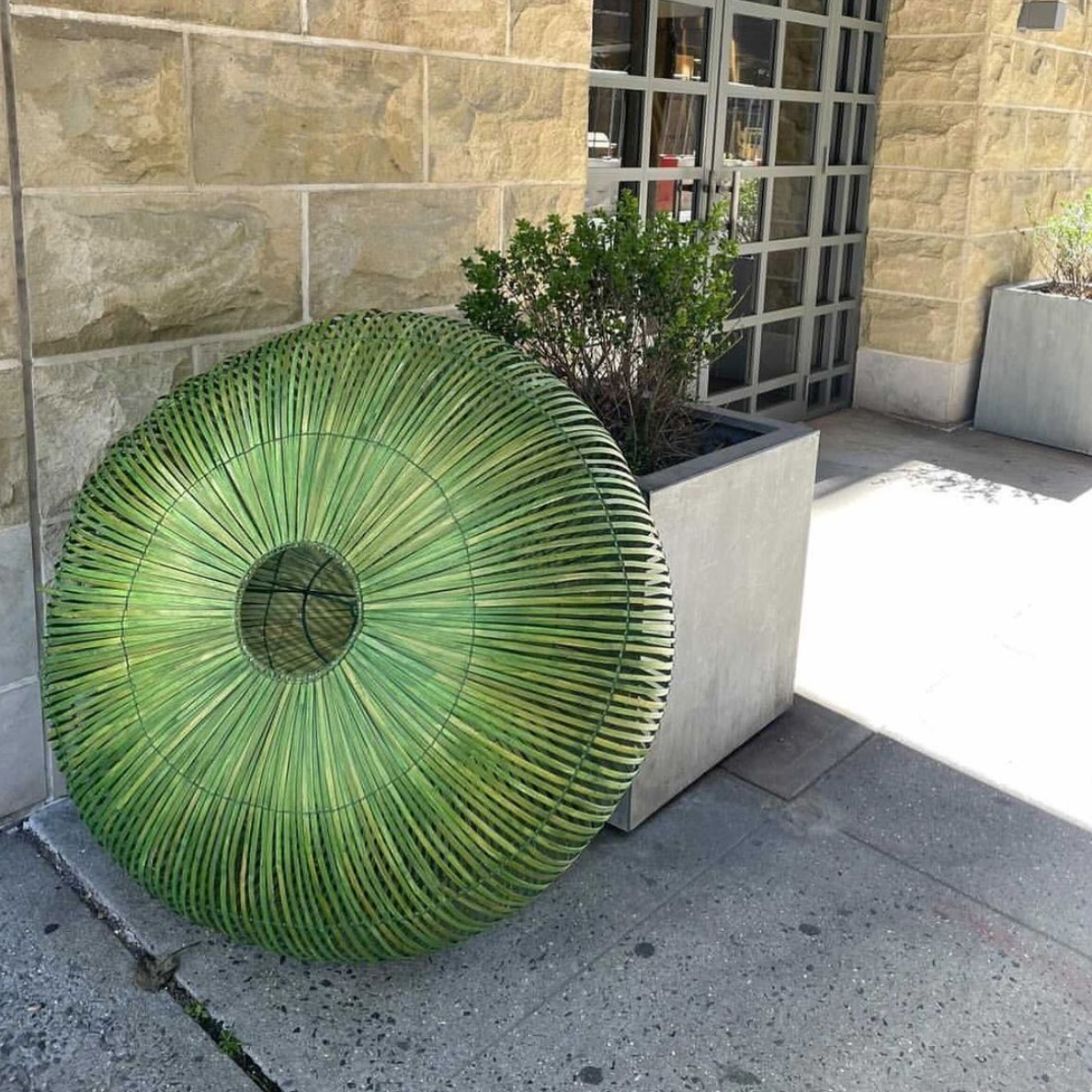 Home decor item pictured on a curbside in New York City