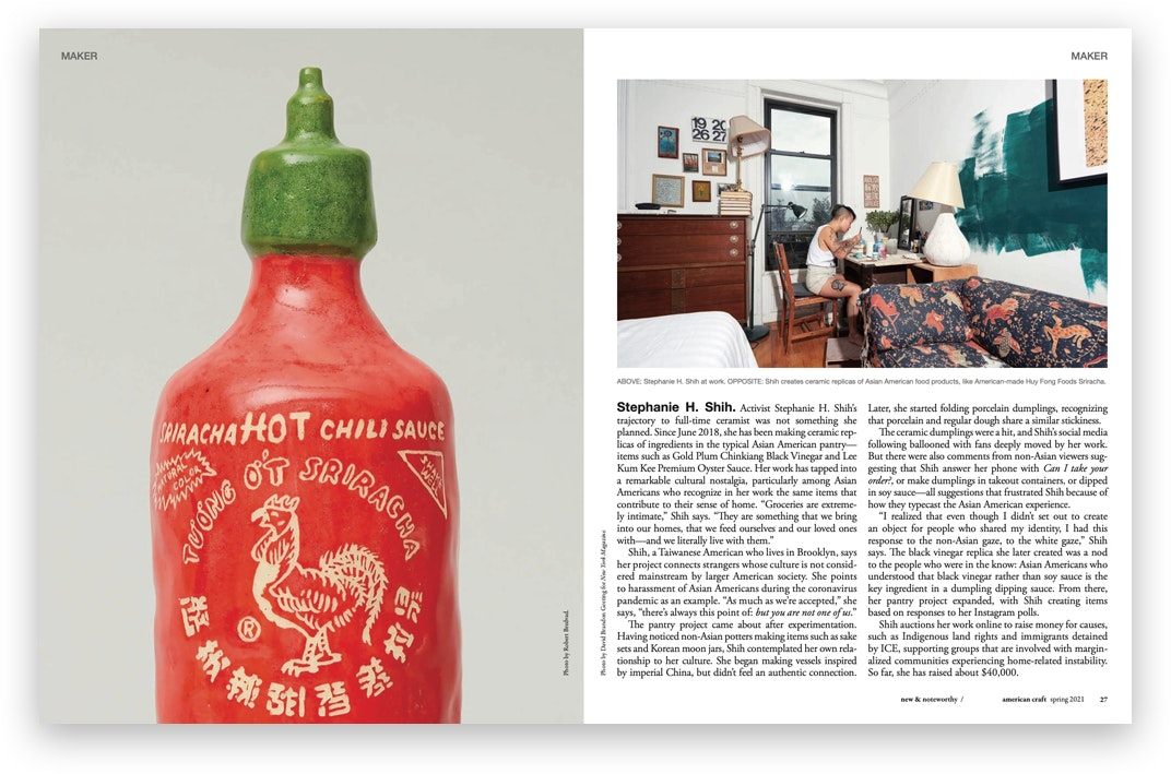 Spread from the Spring 2021 issue of American Craft magazine