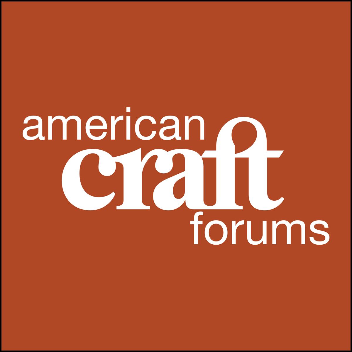 Fall 2021 American Craft Forums logo tile