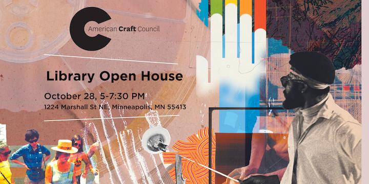 american craft council library open house october 28 2021 1224 marshall st ne minneaplis 55413