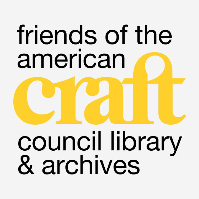 friends of the american craft council library and archives