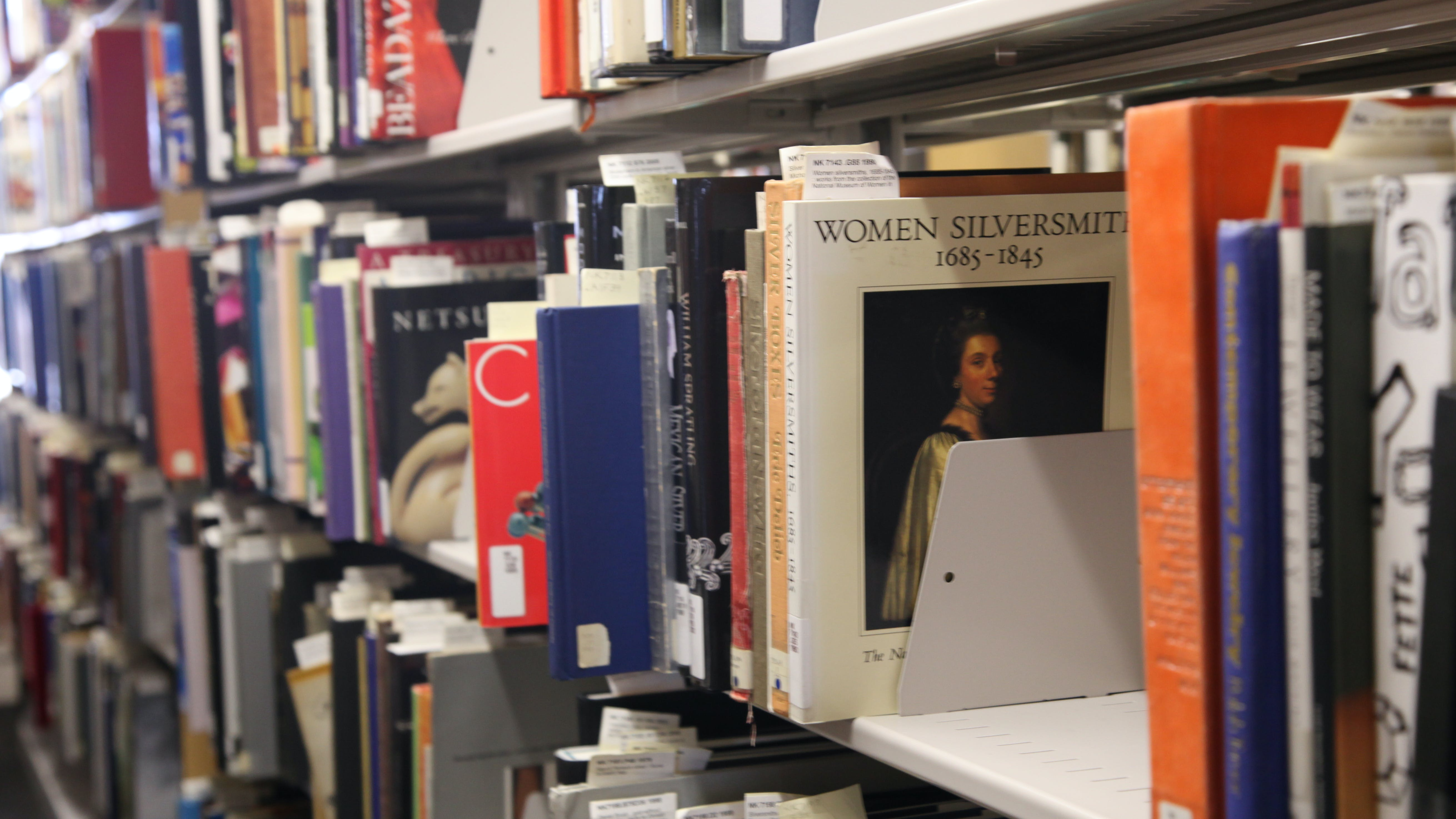 Shelf of books in the ACC Library