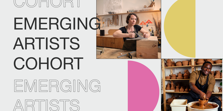 Emerging Artists Cohort webpage graphic