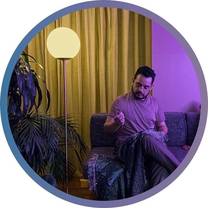 Stylized portrait of Andres Payan Estrada