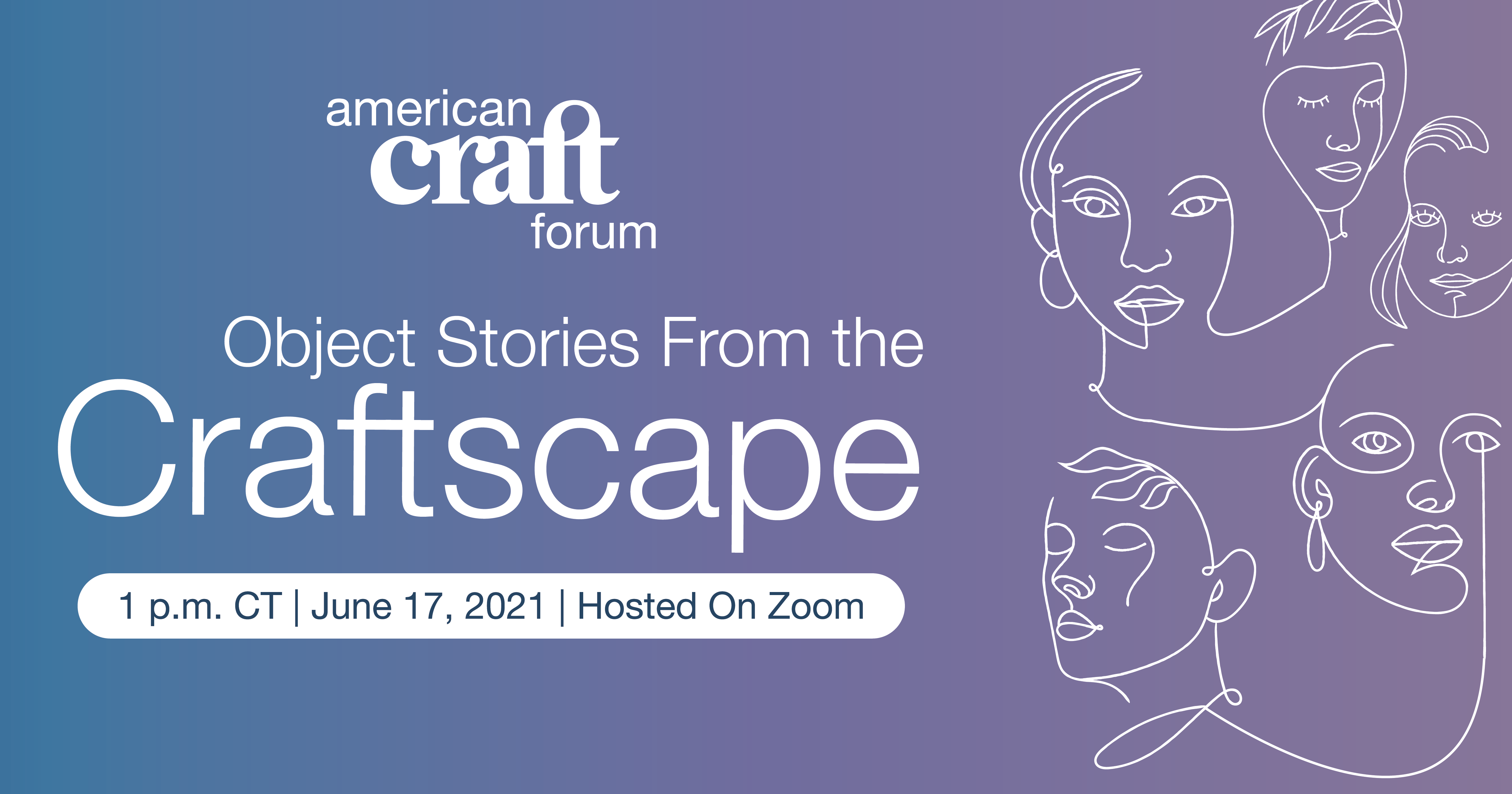 Summer 2021 American Craft Forum Cover Graphic