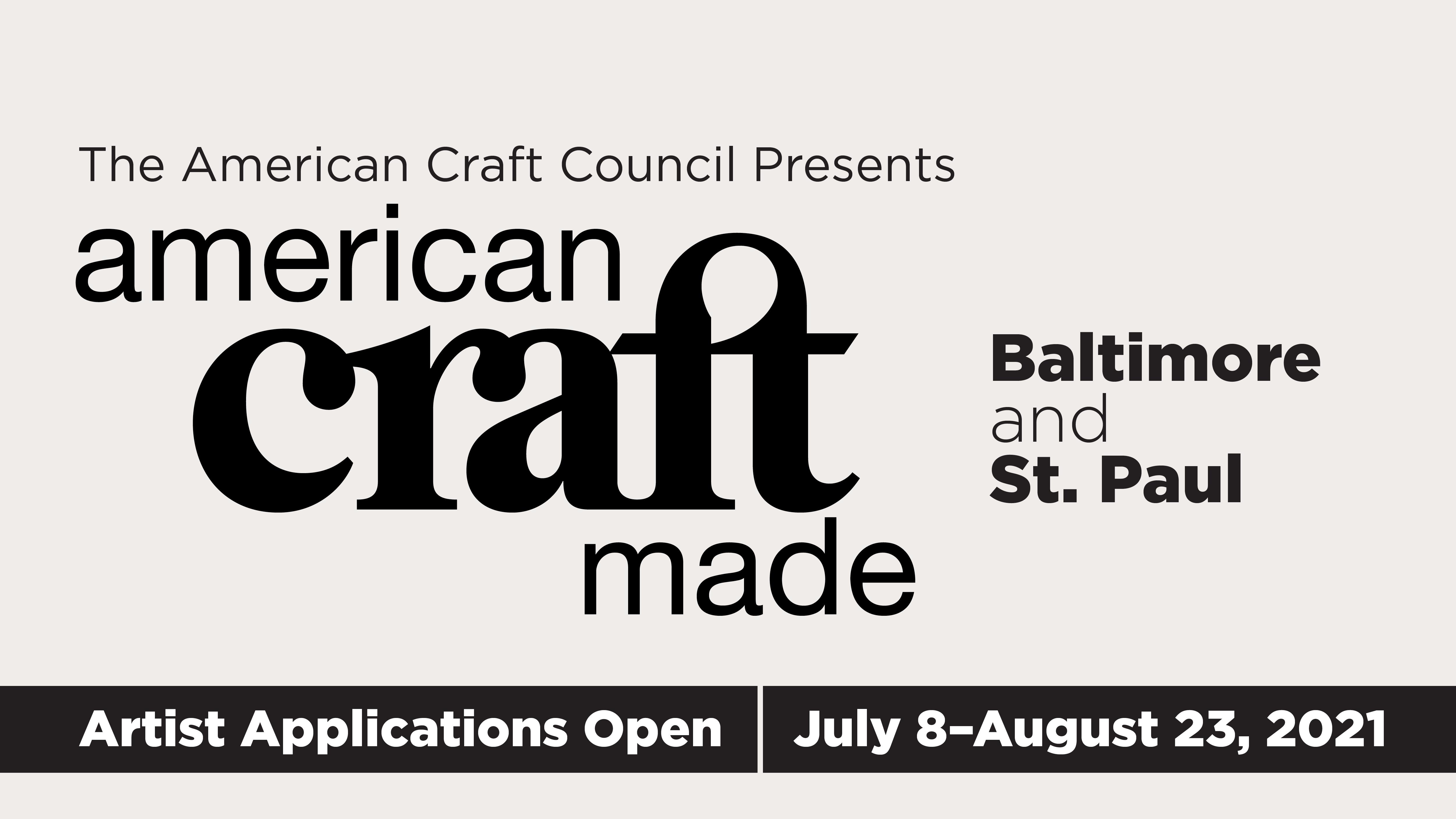 American Craft Council Presents Atlanta Southeast Craft Week Online September 20–26 2021