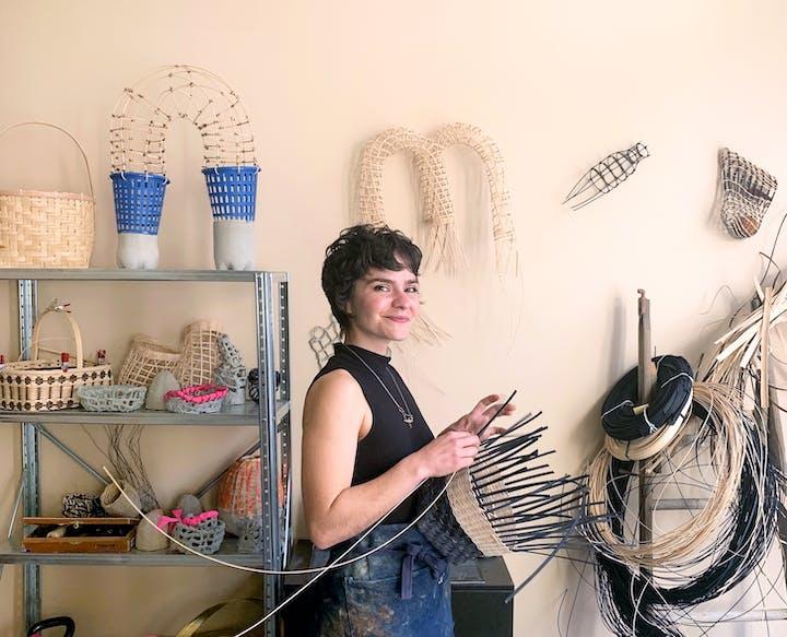 Portrait of Sarita Westrup in studio