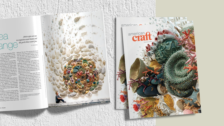 Page cover graphic with spring issue of american craft